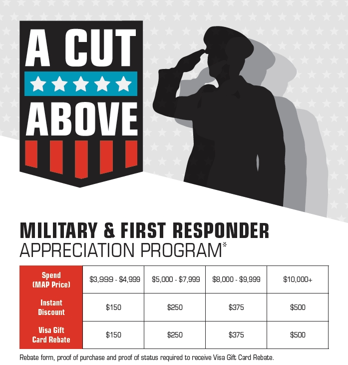 A Cut Above: Military & First Responder Discount Program