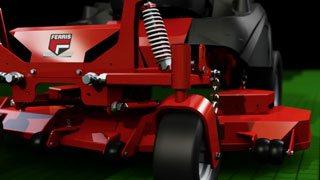 How the Lawn Mower Suspension System Works on Ferris Riding Mowers