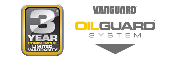 Oil Guard™ warranty and logo